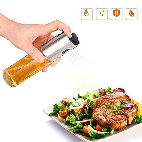 Huile sprüher, Oil Pulvérisateur, huile d'olive Pulvérisateur en acier inoxydable huile & vinaigre distributeur ölbehälter anti-fuite Huilier, cuisiner et épices à salade Harnais Outils