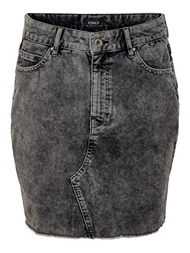 ONLY Damen kurzer Kord Rock onlSky Mini schwarz, Farbe:Schwarz, Größe:40