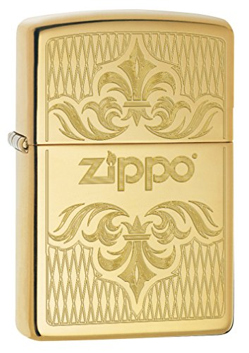 Zippo Lighter: Regal Zippo Design, Engraved - High Polish Brass 79098