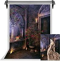 HDおとぎ話のテーマの背景ヨーロッパの建築花結婚披露宴の写真の背景のキャンドルの背景写真スタジオの小道具の壁紙7x10ftFSYM164