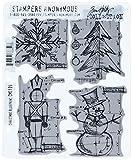 Tim Holtz Cling Mounted Stamp Sets–Juego de Sellos de Goma, diseño de Navidad Sello