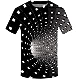 Camiseta de Manga Corta para Hombre Moda 3D Estampado T-Shirt Originales Cuello Redondo Personalizadas Simplicidad y Deportivos Casuales Tops de Verano Ocio Diario