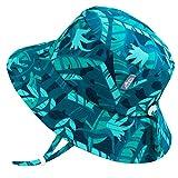 Jan & Jul UV-Schutz Sonnenhut für Baby Mädchen, mit Riemen (M: 6-24 Monate, Tropical Cool)