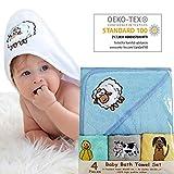 bisoo - Asciugamano per Neonato - Set da Bagno Neonato con Cappuccio e Asciugamani - 1 Man...