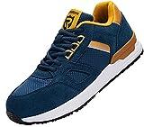 Zapatos de Seguridad Hombre,L9123 S1 SRC Zapatillas de Trabajo con Punta de Acero Suave y cómodo Antideslizante 43.5 EU,Azul