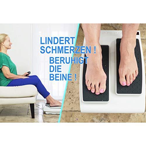 Genius Unisex– Erwachsene Leg Exerciser Beintrainer, Weiß, 41 x 32 x 11,5