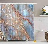 N\A Duschvorhang, Strand Duschvorhang Coole Duschvorhang Granit Stein Textur Hintergr& Bunte Natur Rock Großer Duschvorhang Wasserdichtes Dekor Badezimmer Set mit Haken