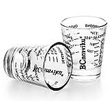 Messbecher Gläser 20 Stück Mehrzweckmessungen Flüssigkeit und Trockene Espresso Messbecher Schnapsglas 2 Pack Black