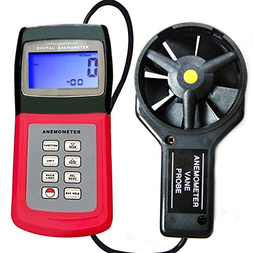 Air Windgeschwindigkeit Anemometer Multi-Funktions-Thermometer mit Vane (Amazon-Produktseite anzeigen)