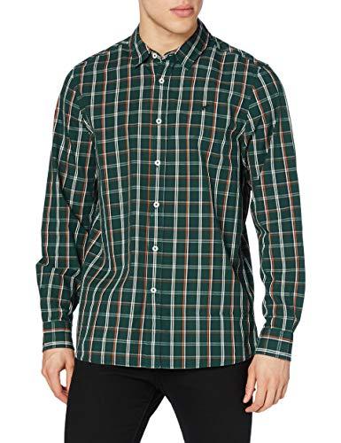 MUSTANG Herren Casper KC Check Hemd, dunkelgrün, XL