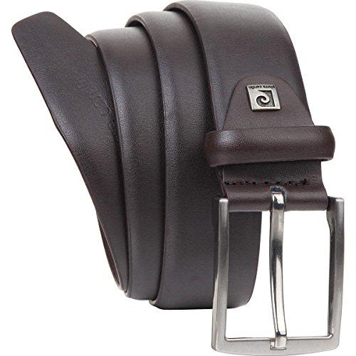 Cinturón de cuero para hombre/Cinturón para hombre Pierre Cardin, marrón oscuro