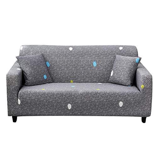 R&P Elastica Funda Sofa 1/2/3/4 Plazas Elastica, Antideslizante Cubre/Protector Sofá Ajustables Estampado Funda para Sofá Chaise Longue Forma de L,D,4 Seat+2 Pillowcase