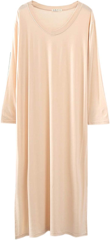 Elonglin Women's Nightdress Nightshirt Pajama Top Nightgown Large T-Shirt Dress