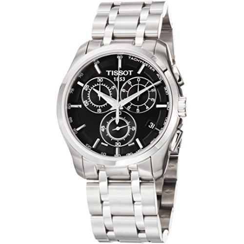 Tissot Herren-Armbanduhr Couturier Leder Chrono T0356171105100