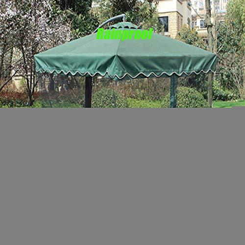 Sombrilla para patio con pantalla de malla, sombrilla para patio al aire libre con cubierta de red, a prueba de viento, a prueba de lluvia, anti-UV, para exteriores, toldo de malla para terraza de pl