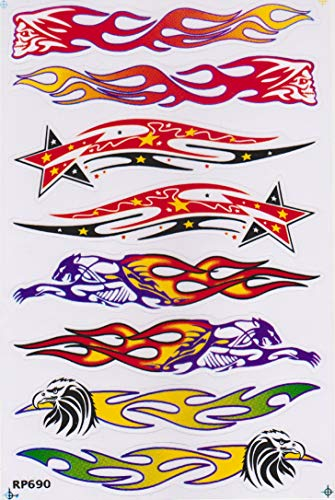 Pegatina de vinilo adhesivo para coche, diseño de águila, calavera pantera, estrella de fuego, coche, 1 hoja 28 x 18 cm