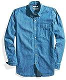 Goodthreads Standard-Fit Long-Sleeve Denim Shirt button-down-shirts, Azul Medio, US M (EU M)