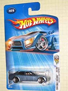 Hot Wheels 2004-029 First Editions Maserati Quattroporte BLUE 1:64 Scale Large Headlight Card