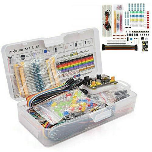ZHITING Kit de Inicio de 1 Juego para Componentes Electrónicos Breadboard LED Zumbador Resistencia Transistor