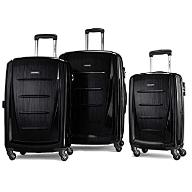 Samsonite Winfield 2 Fashion 3 Piece Spinner Nesting Set (3 pc Set Brushed Black)