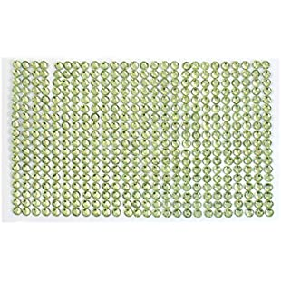 Faceted Light Green Plastic Crystal Sticker Sheet for Auto:Carsblog