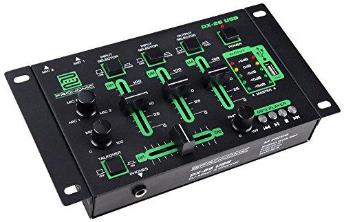Pronomic DX-26 - Mesa de mezclas de DJ, USB