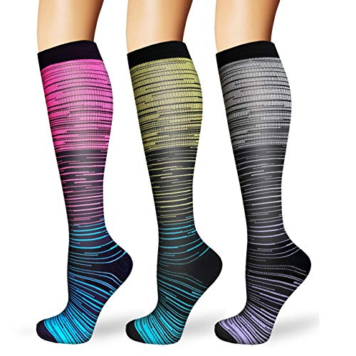 ACTINPUT Compression socks for men and women 20 30 mmHg is best for running athletics medicine pregnancy and travel L XL