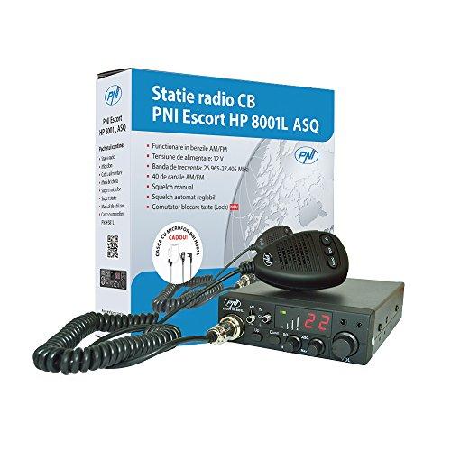 Ricetrasmittente Radio CB PNI Escort HP 8001L ASQ, auricolare con microfono HS81L incluso