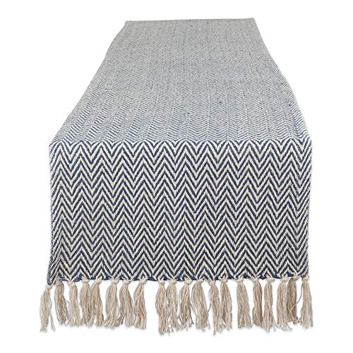 DII Braided Farmhouse Table Runner, 15 x 72 inches, French Blue