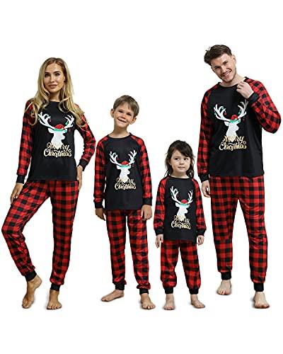 LWYOU Pijamas Navidad Familia Conjunto,...