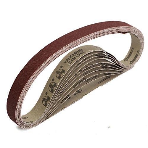 CHUNSHENN 10pcs 80 Grit 760x25mm Zirconia Abrasive Sanding Belts for Grinding Woodwork Abrasive Accessories