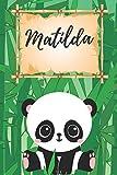 personalisiertes Notizbuch Panda / Malbuch / Kritzelbuch / Tagebuch / Journal / Notizheft / DIN A5 / Geschenke Matilda: individuelles personalisiertes ... & Geburtstags Geschenk für Frauen und Männer.