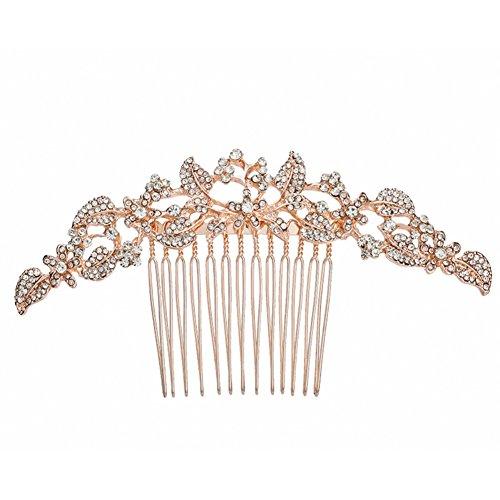 Homeofying Mariage Strass Peigne à cheveux bijoux accessoire cheveux Coiffe Headwear