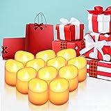 【2020 Neue】ORIA 12 LED Kerzen, Flammenlose Kerzen LED Teelicht Elektrische Kerzen Lichter, Batteriebetriebene Flackern Teelichter Kerzen Tealights für Weihnachten, Hochzeit, Party, etc - 6