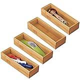 mDesign Juego de 4 separadores de cajones para la cocina – Organizadores para...