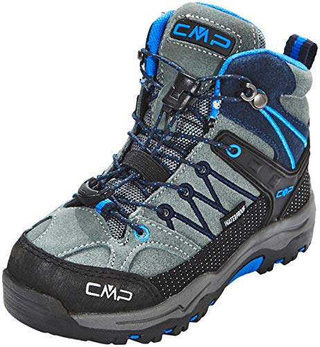 CMP Unisex-Kinder Kids Rigel Mid Shoe Wp Trekking-& Wanderstiefel, Grau (Grey-Zaffiro 52ak), 28 EU