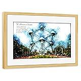 artboxONE Poster mit Rahmen Kiefer 75x50 cm Atomium