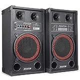 "Fenton SPB 10"" Pair Powered Bluetooth Disco Party Speakers with USB MP3 600W"