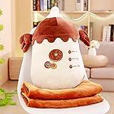 Boufery Almohada de biberón de Felpa, Suave Almohada de Felpa Aire Acondicionado Juguetes de Manta, para niños decoración del hogar (marrón) 48Cm