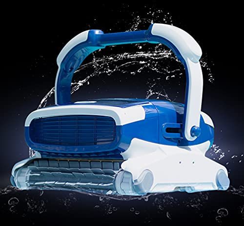 Metalix Aquabot Elite Robotic Pool Cleaner with Caddy Included, Triple Scrubbing Brushes, Massive Dual Cartridge Filters, Quickdraw Filters, and 3 Yr Warranty