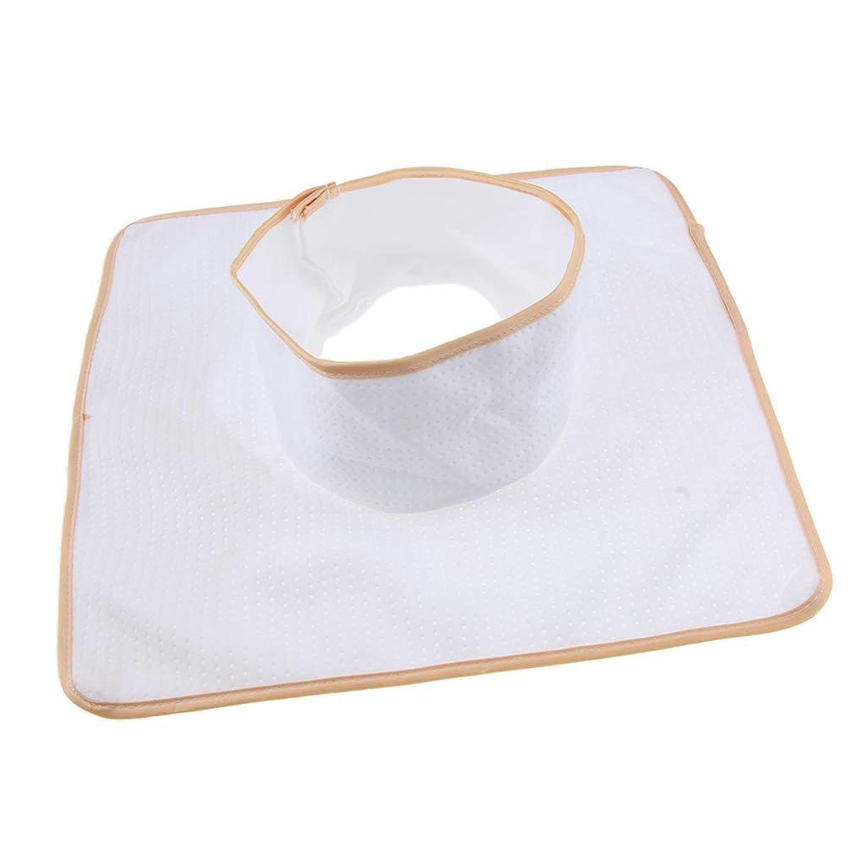 蜜八国民D DOLITY マッサージ ベッド テーブル ヘッドパッド 頭の穴付 再使用可能 約35×35cm 全3色 - 白