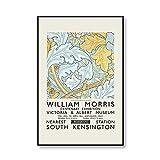Impresión de lienzo de William Morris, póster de exposición de museo, estilo de arte subterráneo de Londres, lienzo sin marco, A 50x75cm