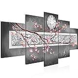 Runa Art - Cuadro Sakura Flores 200 x 100 cm 5 Piezas XXL Decoracion de Pared Diseño...