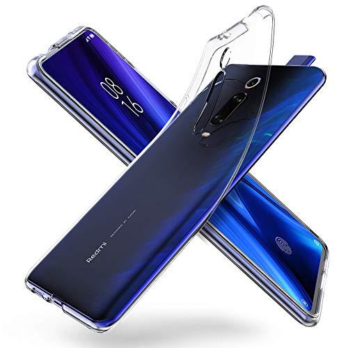 "ORNARTO Durchsichtig Kompatibel mit Xiaomi Mi 9T Hülle, Mi 9T Pro Transparent TPU Flexible Silikon Handyhülle Schutzhülle Case für Xiaomi Mi 9T/9T Pro(2019) 6.39""-Klar"