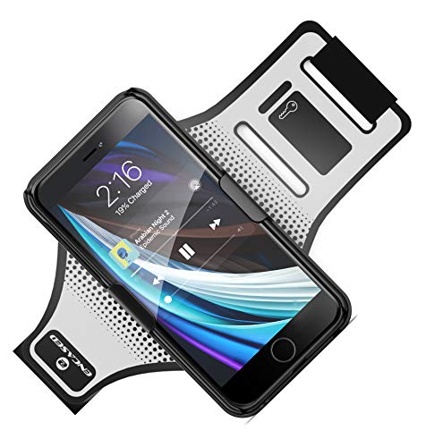 Armband for iPhone SE 2020 Running/Jogging Comfortable Workout Arm Holder Band with Slim Case (Fully Adjustable w/Reflective Strap)