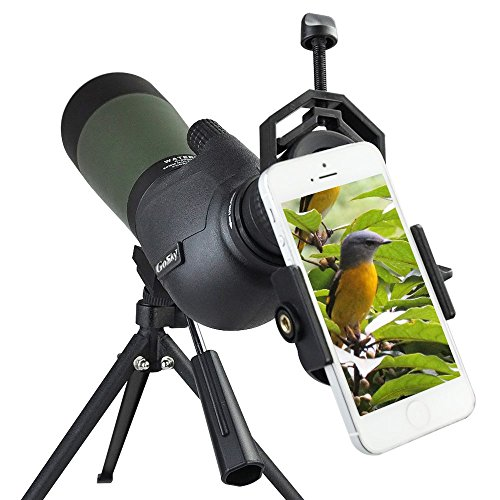 Gosky 20-60 X 80 Porro Prism Spotting Scope- Waterproof Scope for Bird Watching Target Shooting Archery Range Outdoor...