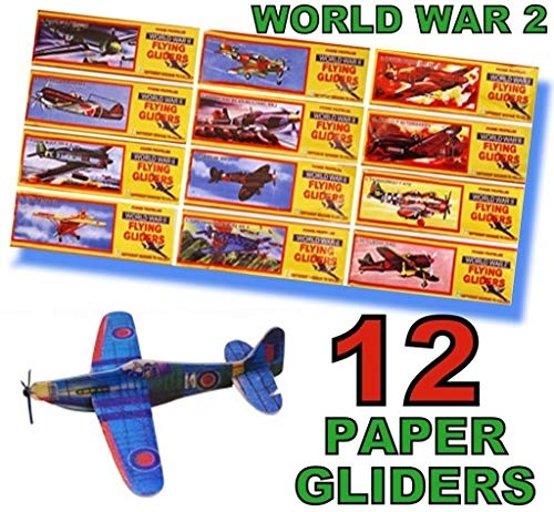 12 WORLD WAR 2 FLYING GLIDERS by Henbrandt