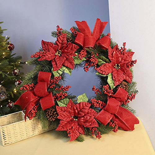 XIUYUNHUAH 70Cm Kerstkrans deur opknoping kerstdecoratie slingers voor voordeur opknoping muur ramen binnen Outdoor-70Cm50