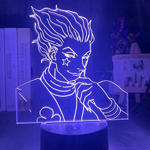3D-Illusionslampe Led-Nachtlicht Ize Usb Touch-Raum Für Kinder Anime Hunter X Hunter Dekor Hisoka Gadgets Kindergeburtstag Weihnachtsgeschenk Tischlampe