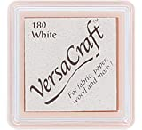 Tsukineko Small Size VersaCraft Fabric and Home Decor Crafting Pigment Inkpad, White